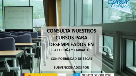 Cursos para desempleados A Coruña y Carballo